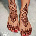 Фото Мехенди на ступне (рисунки хной) от 08.09.2018 №075 - Mehendi foot - tatufoto.com