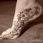Фото Мехенди на ступне (рисунки хной) от 08.09.2018 №083 - Mehendi foot - tatufoto.com