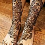 Фото Мехенди на ступне (рисунки хной) от 08.09.2018 №086 - Mehendi foot - tatufoto.com