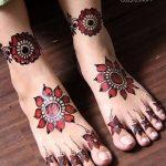 Фото Мехенди на ступне (рисунки хной) от 08.09.2018 №097 - Mehendi foot - tatufoto.com