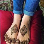 Фото Мехенди на ступне (рисунки хной) от 08.09.2018 №109 - Mehendi foot - tatufoto.com