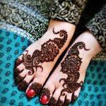 Фото Мехенди на ступне (рисунки хной) от 08.09.2018 №112 - Mehendi foot - tatufoto.com