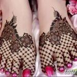 Фото Мехенди на ступне (рисунки хной) от 08.09.2018 №125 - Mehendi foot - tatufoto.com
