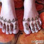Фото Мехенди на ступне (рисунки хной) от 08.09.2018 №132 - Mehendi foot - tatufoto.com