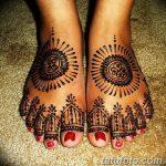Фото Мехенди на ступне (рисунки хной) от 08.09.2018 №133 - Mehendi foot - tatufoto.com