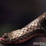 Фото Мехенди на ступне (рисунки хной) от 08.09.2018 №142 - Mehendi foot - tatufoto.com