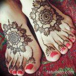Фото Мехенди на ступне (рисунки хной) от 08.09.2018 №147 - Mehendi foot - tatufoto.com
