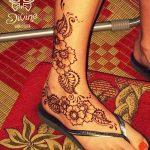 Фото Мехенди на ступне (рисунки хной) от 08.09.2018 №148 - Mehendi foot - tatufoto.com
