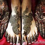 Фото Мехенди на ступне (рисунки хной) от 08.09.2018 №151 - Mehendi foot - tatufoto.com