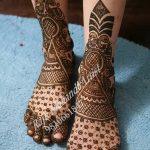 Фото Мехенди на ступне (рисунки хной) от 08.09.2018 №153 - Mehendi foot - tatufoto.com