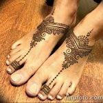 Фото Мехенди на ступне (рисунки хной) от 08.09.2018 №166 - Mehendi foot - tatufoto.com