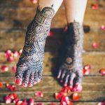 Фото Мехенди на ступне (рисунки хной) от 08.09.2018 №167 - Mehendi foot - tatufoto.com