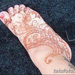 Фото Мехенди на ступне (рисунки хной) от 08.09.2018 №181 - Mehendi foot - tatufoto.com