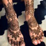 Фото Мехенди на ступне (рисунки хной) от 08.09.2018 №183 - Mehendi foot - tatufoto.com