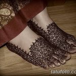 Фото Мехенди на ступне (рисунки хной) от 08.09.2018 №184 - Mehendi foot - tatufoto.com