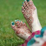Фото Мехенди на ступне (рисунки хной) от 08.09.2018 №186 - Mehendi foot - tatufoto.com