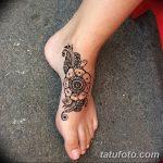 Фото Мехенди на ступне (рисунки хной) от 08.09.2018 №187 - Mehendi foot - tatufoto.com
