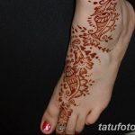 Фото Мехенди на ступне (рисунки хной) от 08.09.2018 №188 - Mehendi foot - tatufoto.com