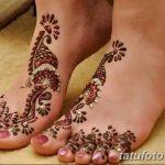 Фото Мехенди на ступне (рисунки хной) от 08.09.2018 №193 - Mehendi foot - tatufoto.com