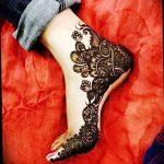 Фото Мехенди на ступне (рисунки хной) от 08.09.2018 №200 - Mehendi foot - tatufoto.com