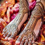Фото Мехенди на ступне (рисунки хной) от 08.09.2018 №206 - Mehendi foot - tatufoto.com