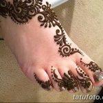 Фото Мехенди на ступне (рисунки хной) от 08.09.2018 №214 - Mehendi foot - tatufoto.com
