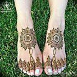 Фото Мехенди на ступне (рисунки хной) от 08.09.2018 №216 - Mehendi foot - tatufoto.com