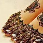 Фото Мехенди на ступне (рисунки хной) от 08.09.2018 №218 - Mehendi foot - tatufoto.com