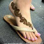 Фото Мехенди на ступне (рисунки хной) от 08.09.2018 №224 - Mehendi foot - tatufoto.com