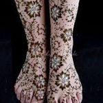 Фото Мехенди на ступне (рисунки хной) от 08.09.2018 №233 - Mehendi foot - tatufoto.com
