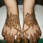 Фото Мехенди на ступне (рисунки хной) от 08.09.2018 №240 - Mehendi foot - tatufoto.com