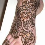Фото Мехенди на ступне (рисунки хной) от 08.09.2018 №249 - Mehendi foot - tatufoto.com