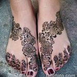 Фото Мехенди на ступне (рисунки хной) от 08.09.2018 №252 - Mehendi foot - tatufoto.com