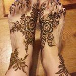 Фото Мехенди на ступне (рисунки хной) от 08.09.2018 №260 - Mehendi foot - tatufoto.com