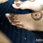 Фото Мехенди на ступне (рисунки хной) от 08.09.2018 №276 - Mehendi foot - tatufoto.com