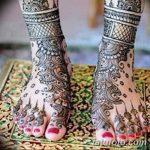 Фото Мехенди на ступне (рисунки хной) от 08.09.2018 №280 - Mehendi foot - tatufoto.com