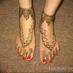 Фото Мехенди на ступне (рисунки хной) от 08.09.2018 №284 - Mehendi foot - tatufoto.com