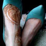 Фото Мехенди на ступне (рисунки хной) от 08.09.2018 №294 - Mehendi foot - tatufoto.com