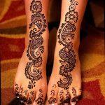 Фото Мехенди на ступне (рисунки хной) от 08.09.2018 №314 - Mehendi foot - tatufoto.com