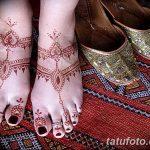 Фото Мехенди на ступне (рисунки хной) от 08.09.2018 №317 - Mehendi foot - tatufoto.com