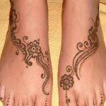 Фото Мехенди на ступне (рисунки хной) от 08.09.2018 №318 - Mehendi foot - tatufoto.com