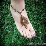 Фото Мехенди на ступне (рисунки хной) от 08.09.2018 №323 - Mehendi foot - tatufoto.com