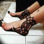 Фото Мехенди на ступне (рисунки хной) от 08.09.2018 №336 - Mehendi foot - tatufoto.com