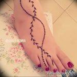Фото Мехенди на ступне (рисунки хной) от 08.09.2018 №337 - Mehendi foot - tatufoto.com