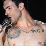 Фото Тату Адама Левина от 21.09.2018 №015 - Adam Levine tattoo - tatufoto.com