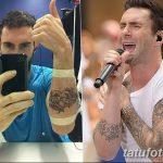Фото Тату Адама Левина от 21.09.2018 №035 - Adam Levine tattoo - tatufoto.com
