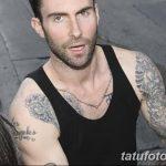 Фото Тату Адама Левина от 21.09.2018 №040 - Adam Levine tattoo - tatufoto.com