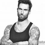 Фото Тату Адама Левина от 21.09.2018 №043 - Adam Levine tattoo - tatufoto.com