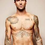 Фото Тату Адама Левина от 21.09.2018 №044 - Adam Levine tattoo - tatufoto.com