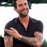 Фото Тату Адама Левина от 21.09.2018 №050 - Adam Levine tattoo - tatufoto.com